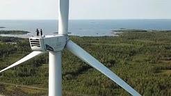 Tuulivoimalan huoltaminen ei sovi korkeanpaikankammoisille