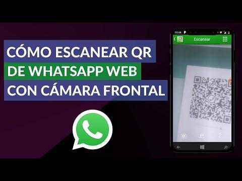 Cómo Escanear el Código QR de WhatsApp Web con la Cámara Frontal