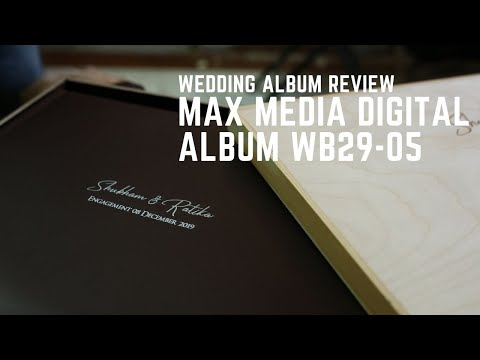 MAx Media Album Review For Wooden Wedding Album WB29-05