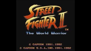 Street Fighter II: The World Warrior (SNES) - Longplay