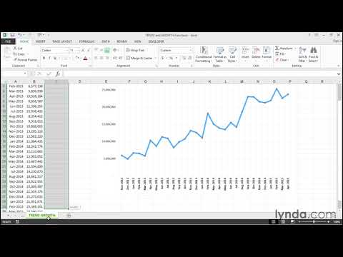 TREND And GROWTH Functions   Excel Tips   Lynda.com