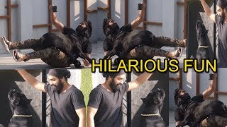 Naga Shaurya Superb Fun With His Dog | Ashwathama Movie | Naga Shourya Lifestyle