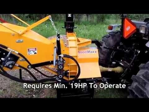 "WoodMaxx WM-8H 8"" PTO wood chipper walk around (Summer 2014)"