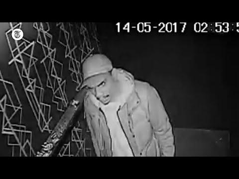Deze man ramt vrouw met glas