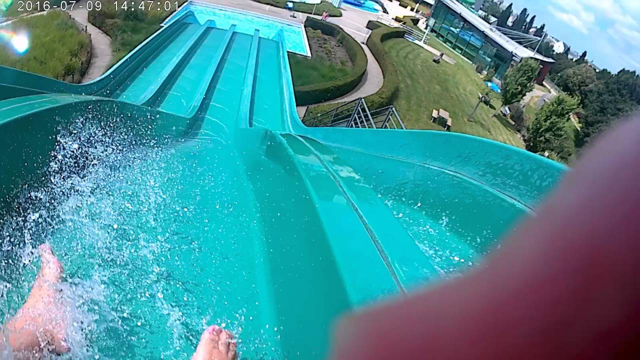 sup cholet tobboggan ext rieur de la piscine gliss o youtube