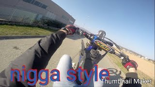 NEW TEST YAMAHA YZ 125 WITH VHM AND HGS !!! WHEELIE