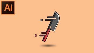 Adobe Illustrator CC Hoş Görünümlü bir Bıçak Resimde nasıl
