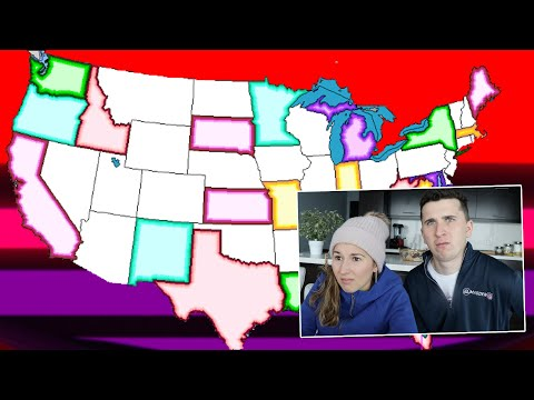 Canadians Try USA States Quiz..