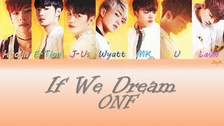 [3.39 MB] ONF (온앤오프) - If We Dream [HAN/ROM/ENG] (Color Coded Lyrics)