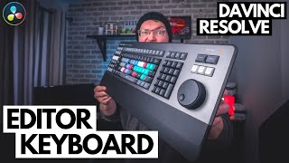 Blackmagic Design Davinci Resolve Editor Keyboard Overview & Review
