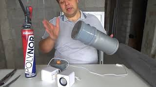 Шумоизоляция стояка канализации.Эксперимент с Полинором против Поритекса.