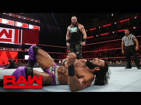 Braun Strowman vs. Jinder Mahal: Raw, Aug. 6, 2018