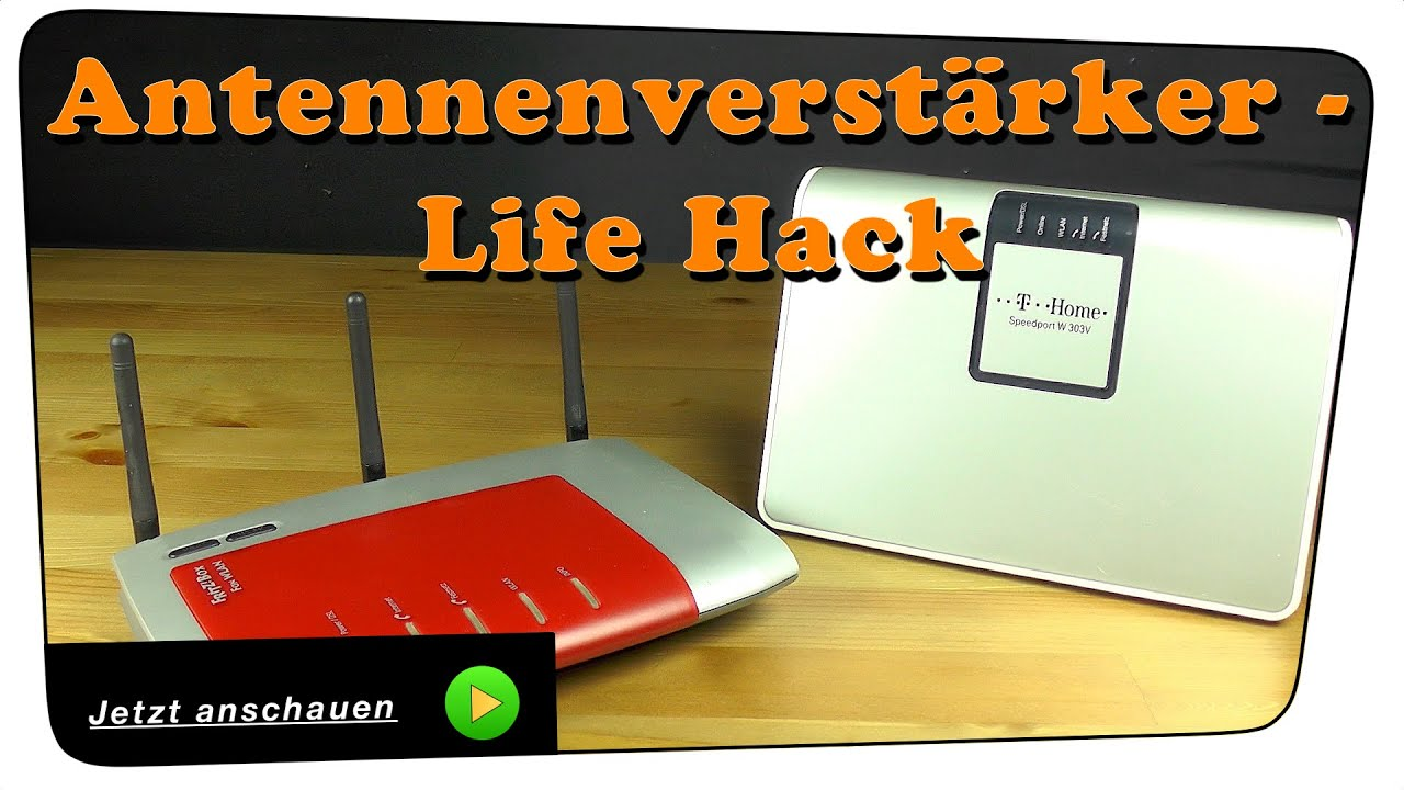 bester wlan antennen verst rker f r alle router zum selber basteln life hack diy youtube. Black Bedroom Furniture Sets. Home Design Ideas