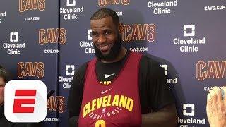LeBron James reacts to James Harden