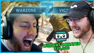 Donating $10,000 if the biggest RAGER wins a game of Warzone...