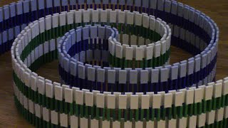 MIND BLOWING Domino Tricks! (30,000 DOMINOES)