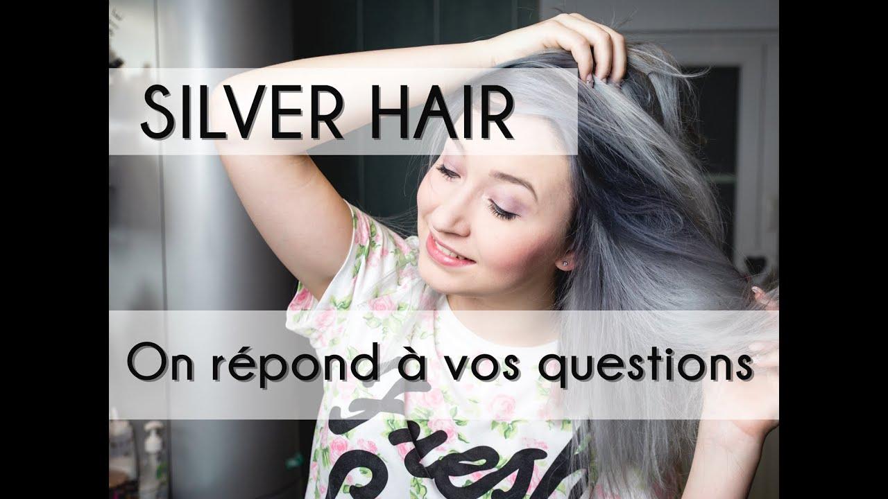 Cheveux gris qui vire au vert