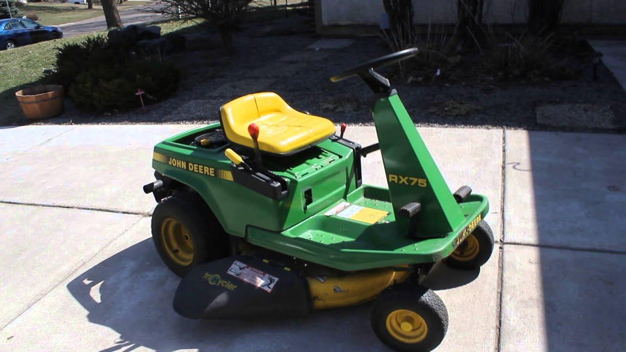 John Deere Sx75 Wiring Diagram John Deere Rx75 Riding Lawn Mower Tractor For Sale