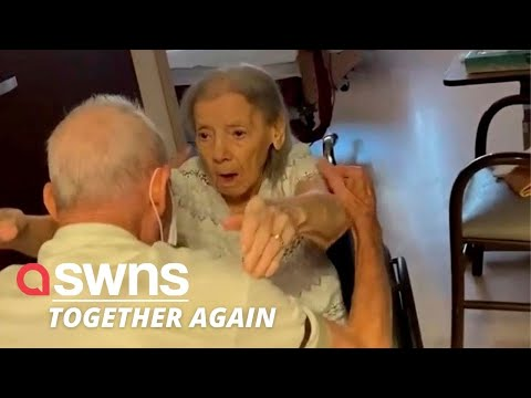 US couple married for 73 year REUNITE in care home after spending nearly a whole year apart | SWNS