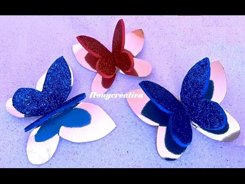 Diy 3d Paper Butterflies Como Hacer Mariposas De Papel En 3d Youtube