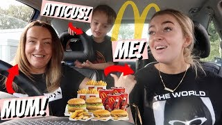 FAMILY MCDONALDS MUKBANG! Travelling & Eating lots of food... (whats new!)