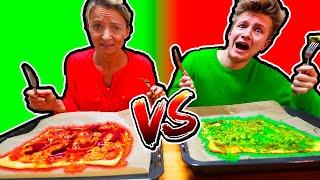 PIZZA in NUR EINER FARBE 🍕 ROTE PIZZA vs GRÜNE PIZZA 🤣 KRASS TipTapTube