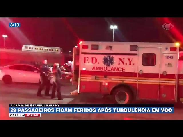 29 passageiros ficam feridos após turbulência em voo