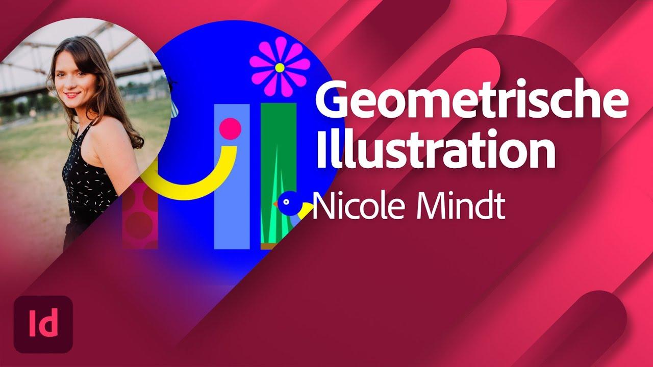 Geometrische Illustration mit Nicole Mindt  Adobe Live