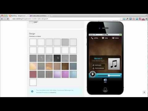 Créer une application mobile Radio