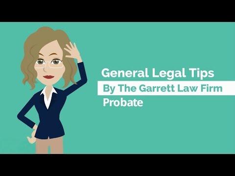 General Legal Tips - Probate