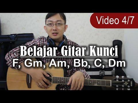 Cara mudah dan cepat belajar gitar - Belajar Kunci Gitar F, Gm, Am, Bb, C, Dm