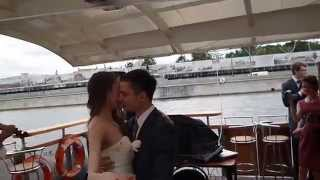 Свадьба Веронички и Кирилла 21 июня 2014, теплоход, река Москва