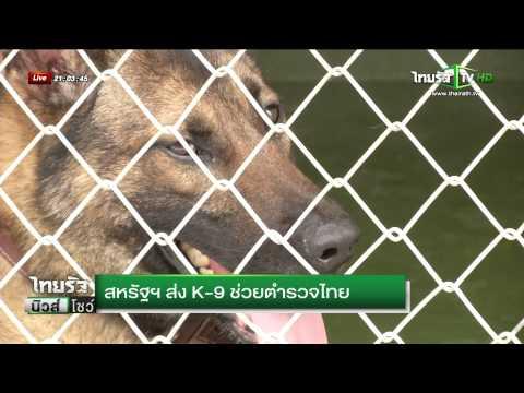 สหรัฐฯ ส่ง K-9 ช่วยตำรวจไทย