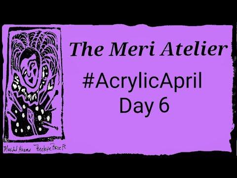 Acrylic April Painting, Day 6 #AcrylicApril #AcrylicApril2019 #ItsNoJokeAcrylicApril