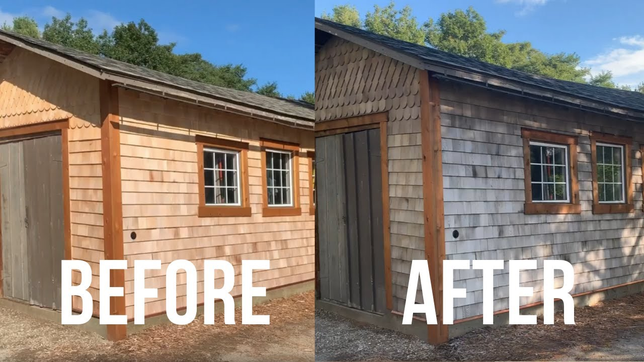 How To Make New Cedar Shingles Look Old In 3 Hours Youtube