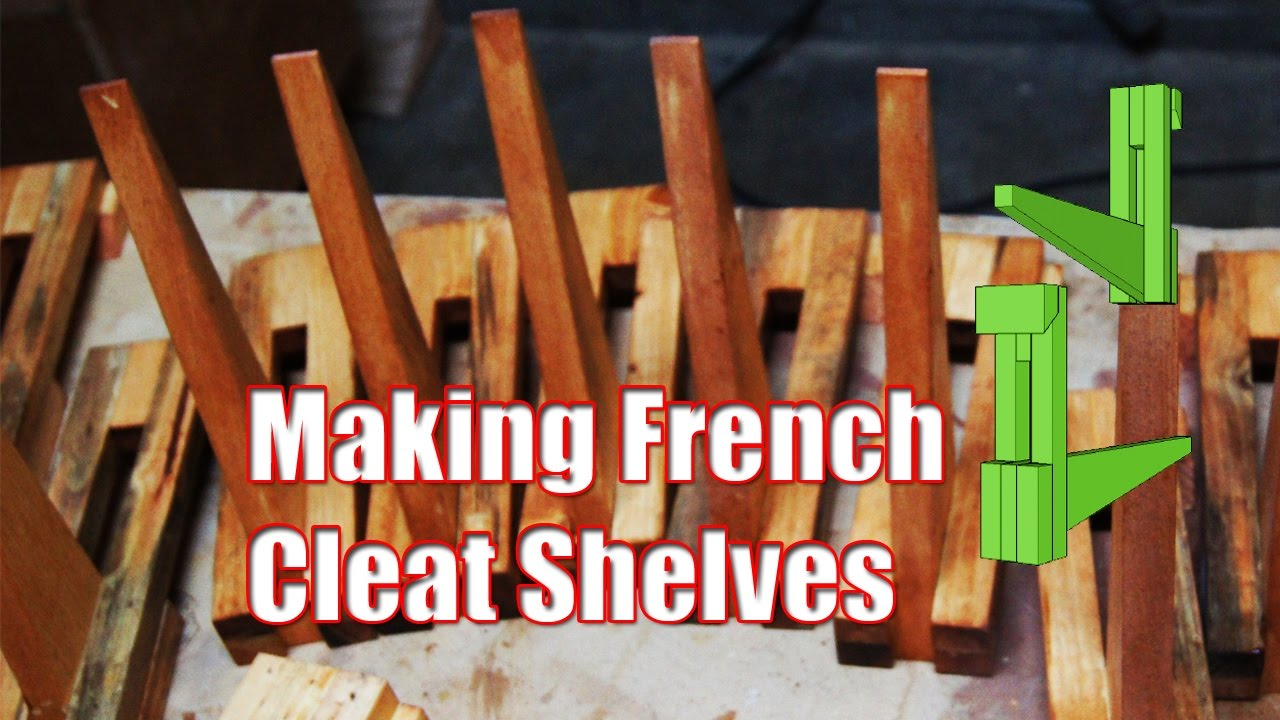 Making French Cleat Shelve Supports Youtube