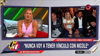 Mica Viciconte habla de su relación con Fabián Cubero