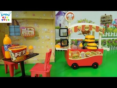 Hamburger Food Cart Kid Toys