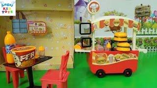 Hamburger Food Cart Kid Toys