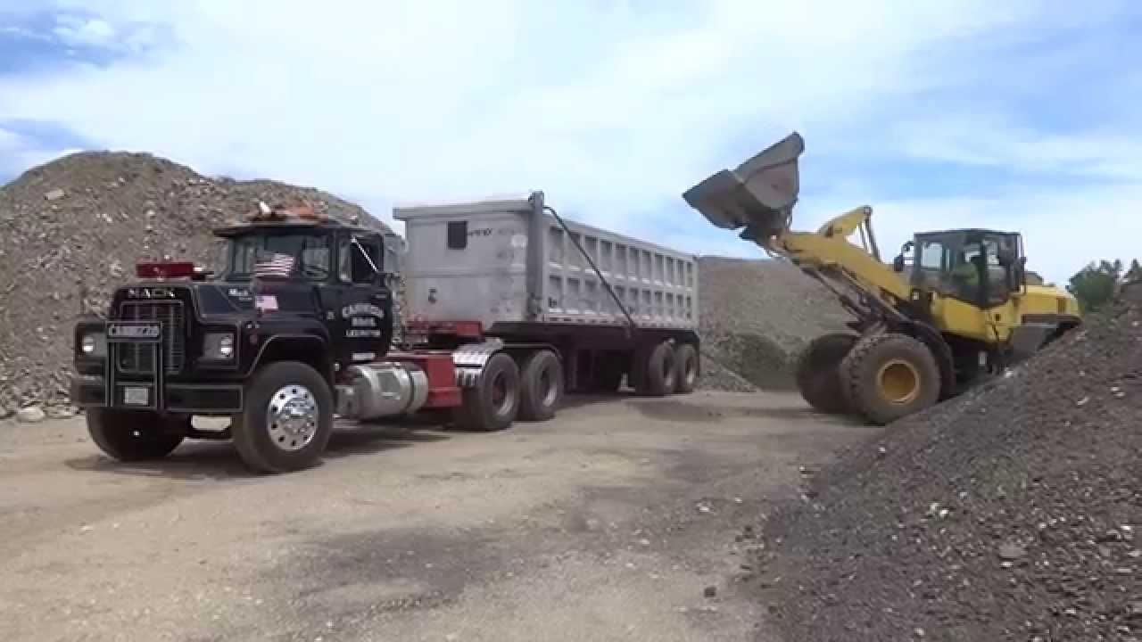 Loading An R Model Mack Dump Truck