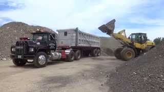 Loading An R-Model Mack Dump Truck