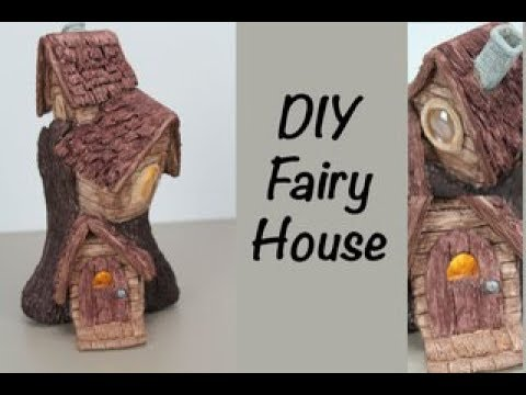 DIY  Fairy Houses in a Tree Stump   Woodland Village