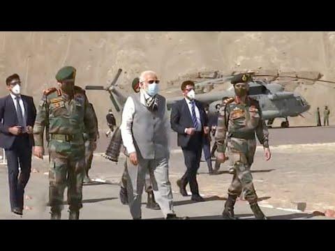 China-India ties: What's behind Modi's sudden visit to Ladakh?
