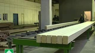 видео Технология производства клееного бруса