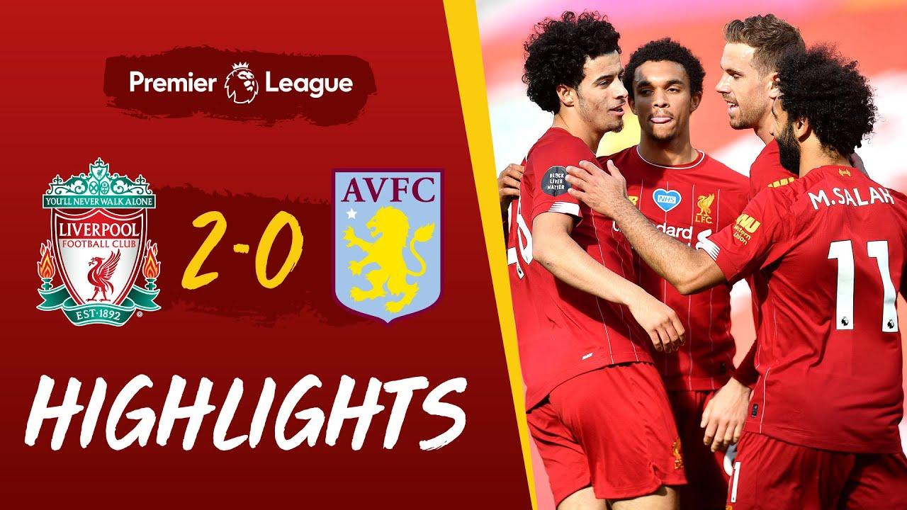 Highlights Liverpool 2 0 Aston Villa Curtis Jones Scores His First Premier League Goal Youtube