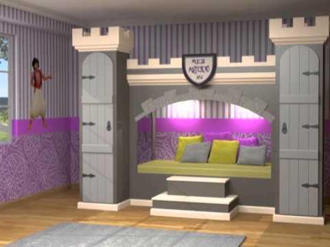 Juveniles estilo castillo youtube - Dormitorios infantiles de nina ...