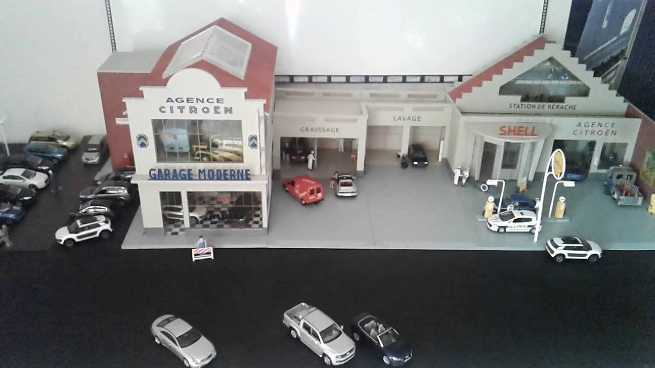 Mon garage citroen 1 43 youtube - Garage miniature citroen ...
