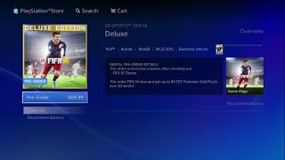 How To Buy FIFA 16 Deluxe Edition on PS4 ( Playstation 4 ) - Tutorial(Buy Now : http://adf.ly/1PLwPo., 2015-09-21T11:44:03.000Z)