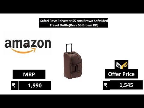 Safari Revv Polyester 55 cms Brown Softsided Travel Duffle(Revv 55 Brown RD)