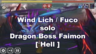 summoners war fuco lich wind solo boss faimon dragon hell